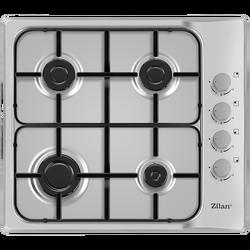 Ugradbena plinska ploča za kuhanje, 60 cm, Inox