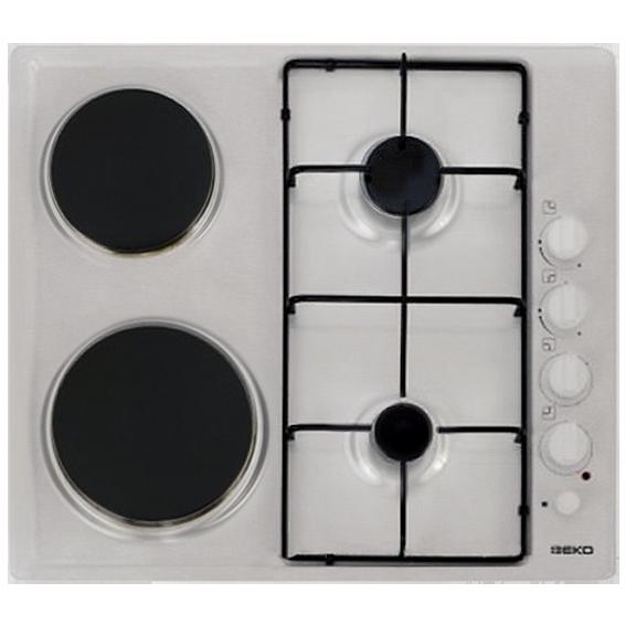 Ugradbena kombinirana ploča za kuhanje 60cm, bijela