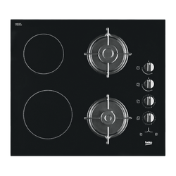 Ugradbena kombinirana ploča, 2 x el./2 x plin, 2900W/2,75kW