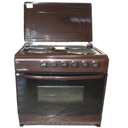 Električni štednjak, 4 ringle, braon