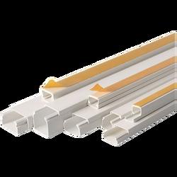 Kanalica kablovska, PVC, samoljepljiva, 20x10mm, boja bijela