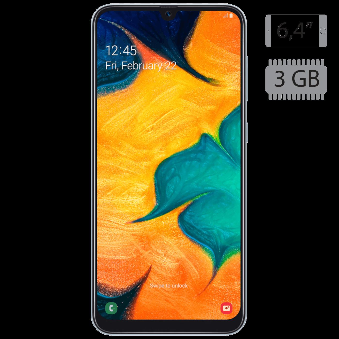 Samsung - Galaxy A30 White