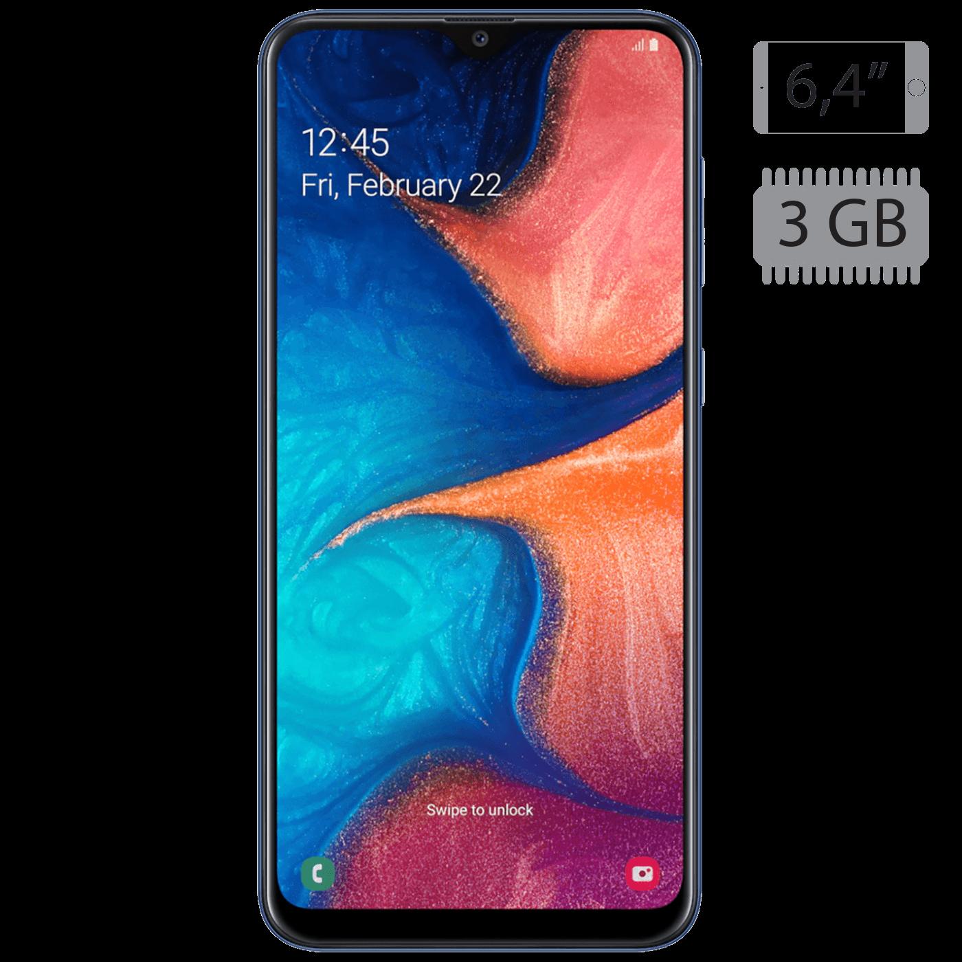 Samsung - Galaxy A20 Blue