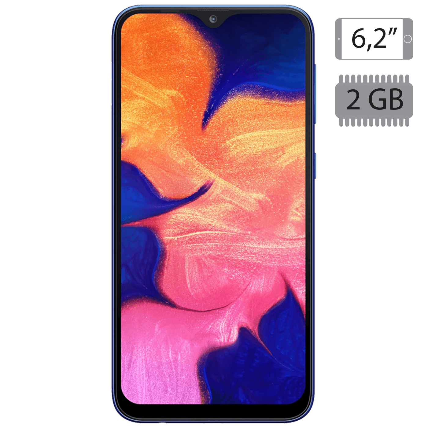 Samsung - Galaxy A10 Blue