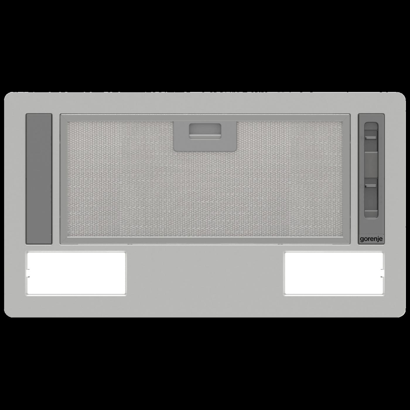 Kuhinjska napa, ugradbena, 146 W, aluminijum/staklo