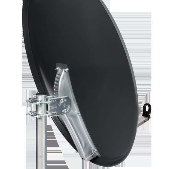 Sat. Antena 97cm, Triax leđa i pribor, boja Anthracite