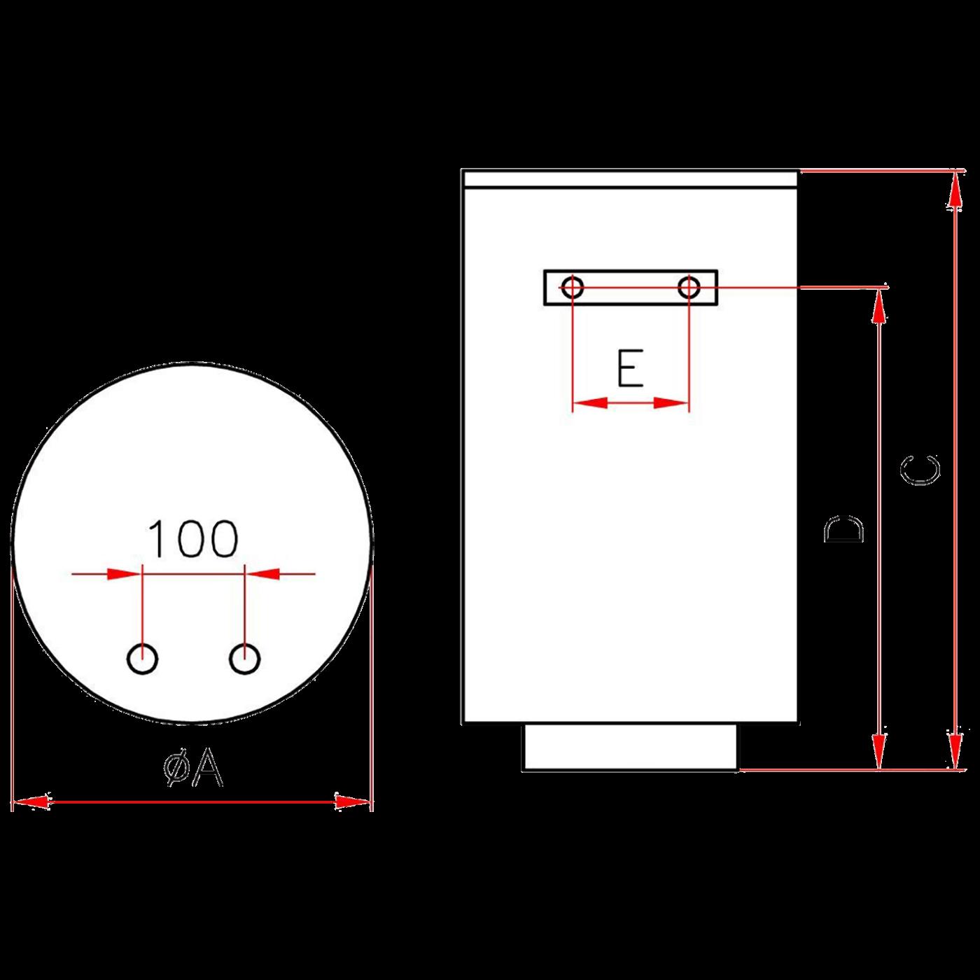 Bojler visokotlačni, 80 lit., 1980W, IP24