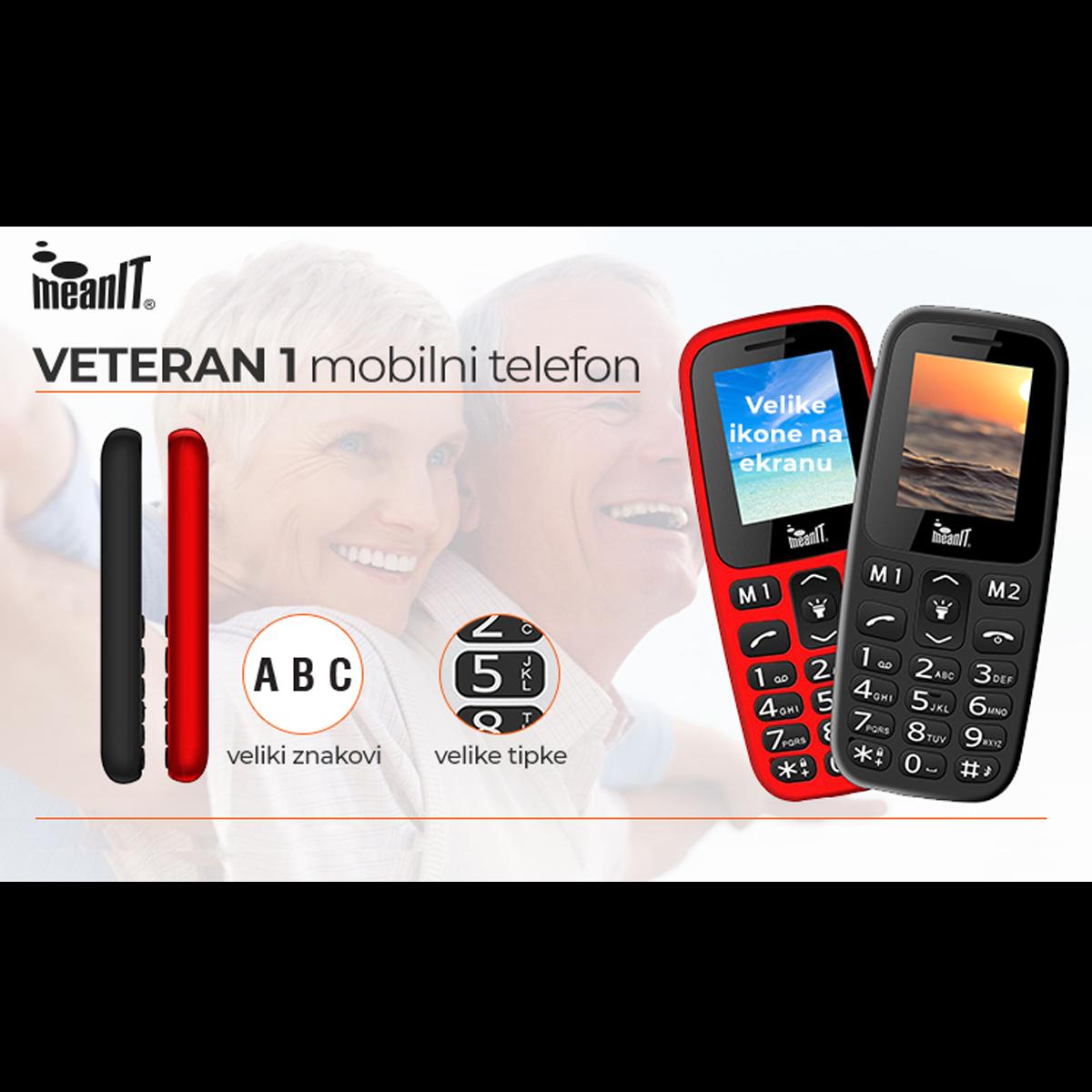 VETERAN I MOBILNI TELEFON-CRVENI