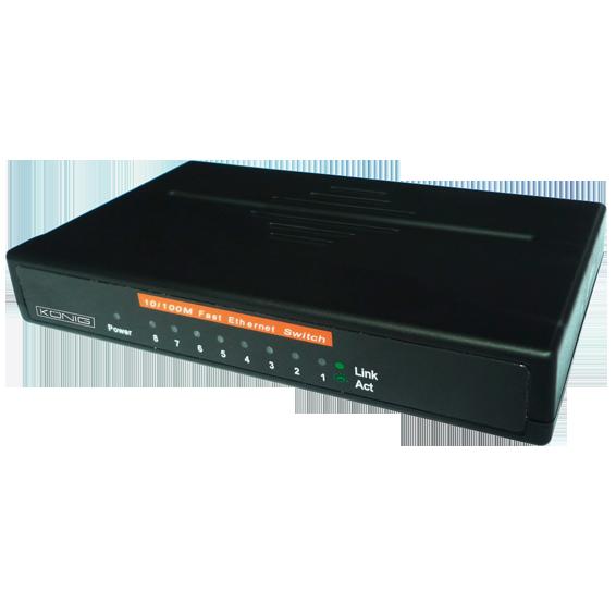 8-Portni switch, 10/100M