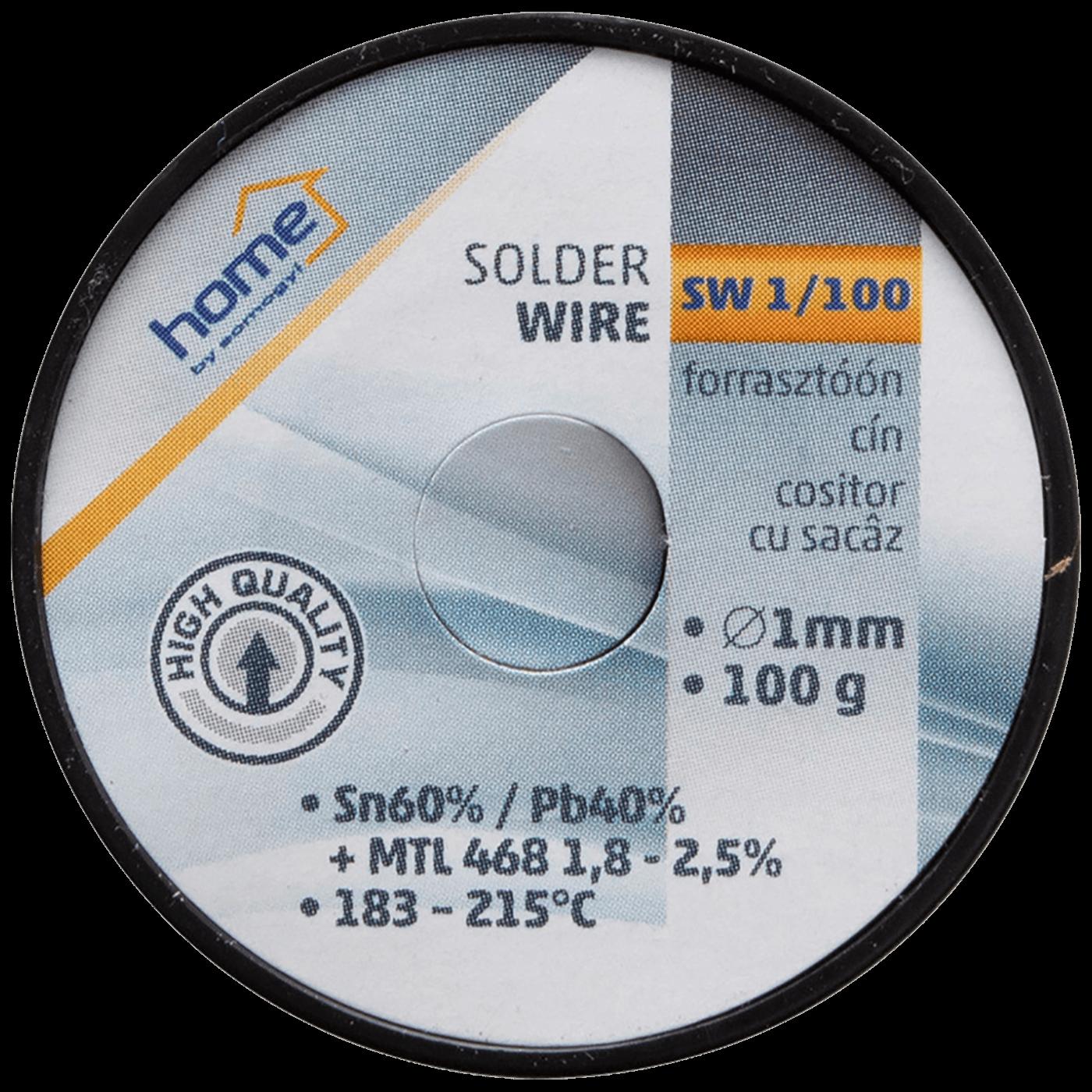 Tinol za lemljenje, Ø1.0 mm, 100g