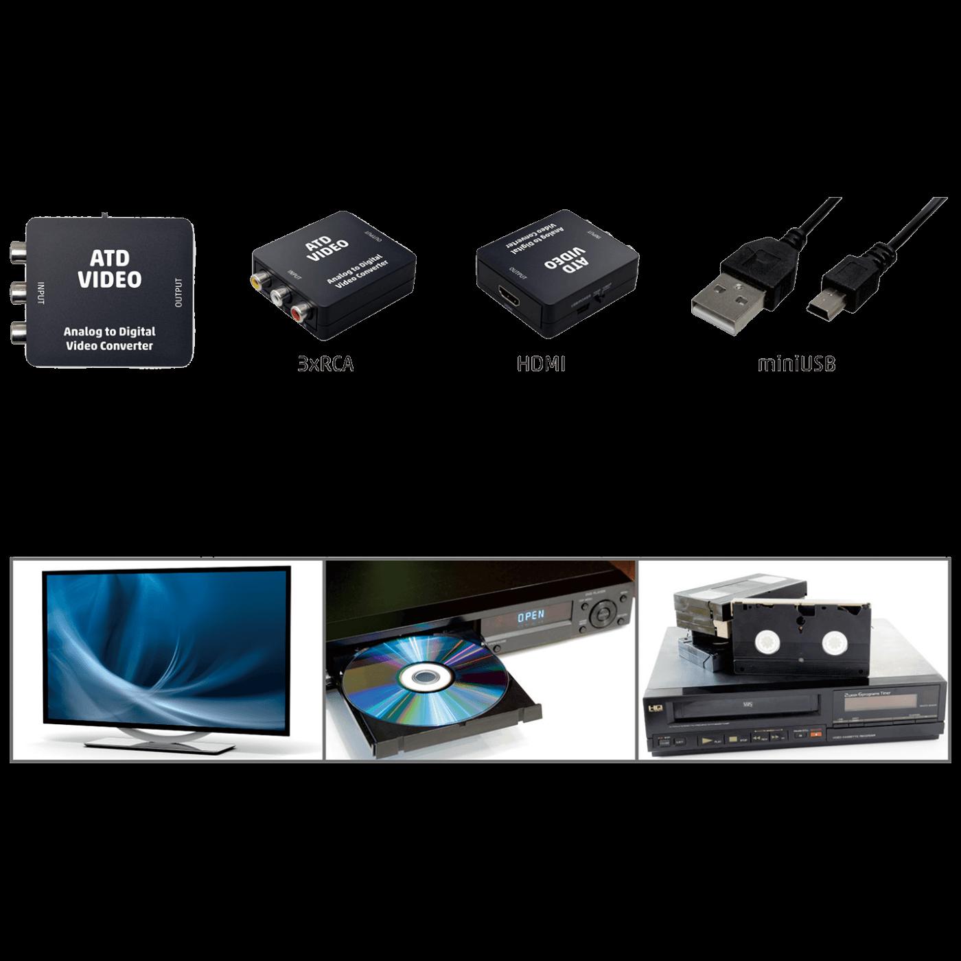 Analogno - digitalni video konverter, 3 x RCA na HDMI