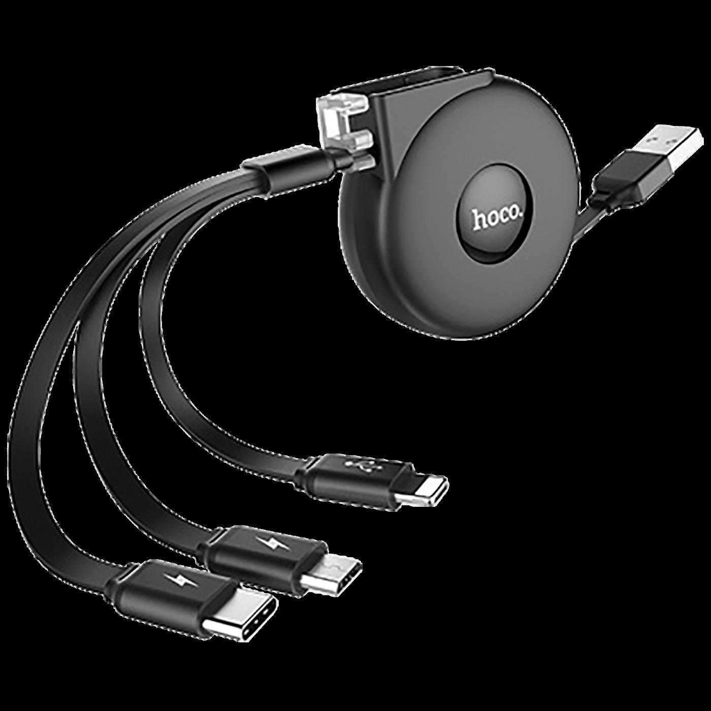 USB kabl za punjenje, 3in1, na izvlačenje, 1 met., 2 A